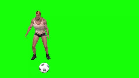 822 4K SPORT FOOTBALL 3D computer generated goal keeper play with and without ball CG動画