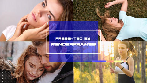 Clean Multiphoto Slideshow After Effects Template