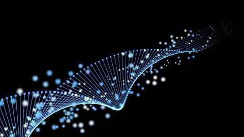 遺伝子をイメージした螺旋構造の4kイメージ動画。 (背景透過) CG動画