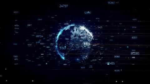 Globe Structure Background Animation