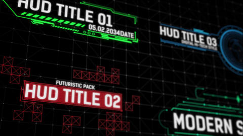 HUD Titles Premiere Pro Template
