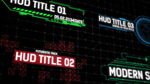 HUD Titles After Effects Template