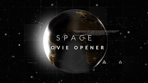 Space Movie Opener Plantillas de Premiere Pro
