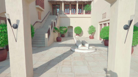 Arab house exterior. Camera moving into the courtyard Live Action