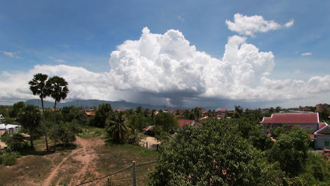 Clouds Over Bokor and Village Timelapse Live Action