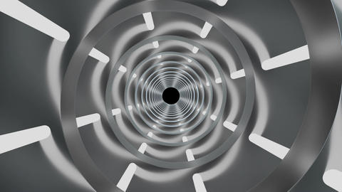 Rotating cylindrical tunnel Footage