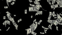 US Dollars Falling, Alpha Channel Animation
