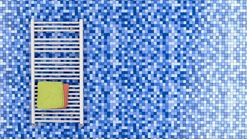 White towel radiator Animation
