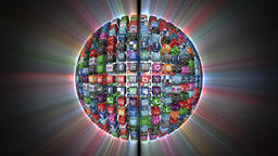 Social Network, Animated Icons, shine, Alpha Channel Animation