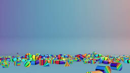 Colorful Geometric Objects Falling, Alpha Animation