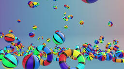 Colorful Summer Objects Falling Animation