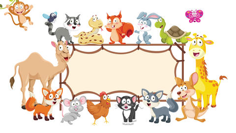 Animation Of Various Cartoon Animals Animation