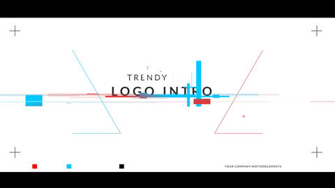 Color Glitch Logo Intro After Effects Template