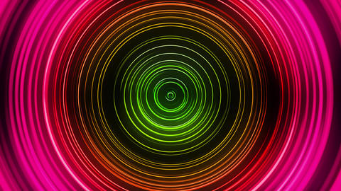 VJ Red Green Neon Circles Animation