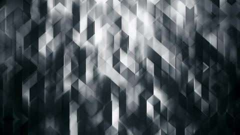 Dark Triangular Polygonal Abstract Background Animation