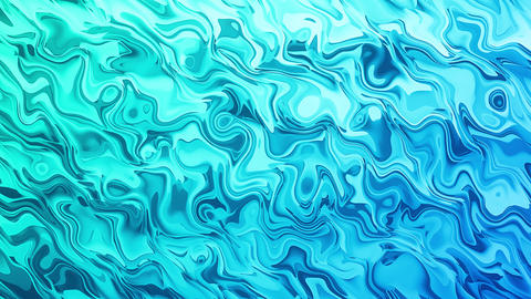 Blue Liquid Smooth Abstract Background Animation