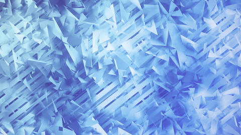 Polygons and Lines Blue Geometric Abstract Background Animation
