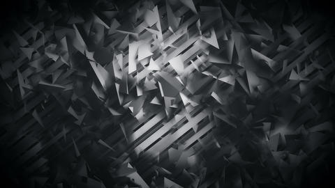 Polygons and Lines Dark Geometric Abstract Background Animation
