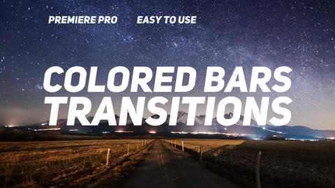 Colored Bars Transitions Plantillas de Premiere Pro