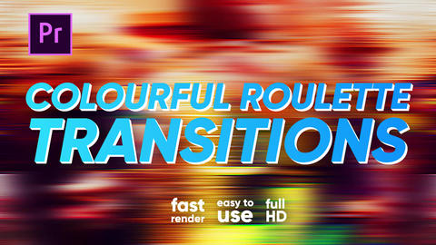 Colourful Roulette Transitions Premiere Proエフェクトプリセット