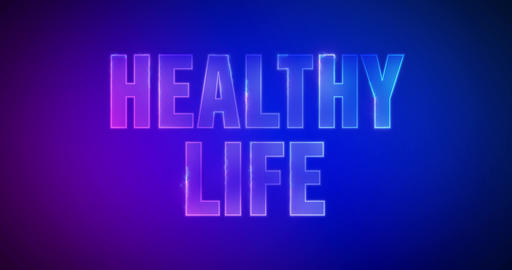 Healthy Life. Particle Logo. Text Animation Animation
