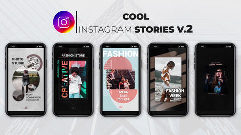Cool Instagram Stories v 2 After Effects Template