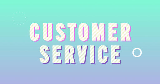 Customer Service Logotype. Smooth Text Animation Animation