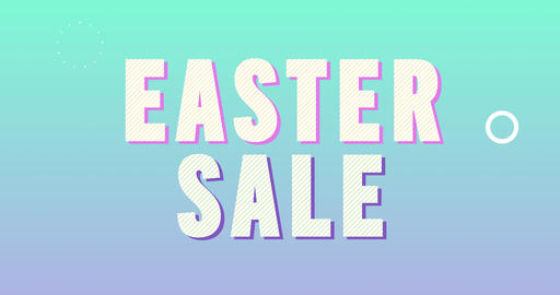 Easter Sale Logotype. Smooth Text Animation Animation