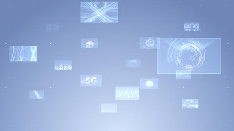 Digital Network Technology AI 5G data communication concepts background E Move C Gray CG動画