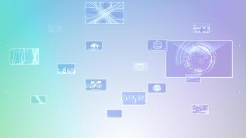 Digital Network Technology AI 5G data communication concepts background E Move C Gray2 CG動画