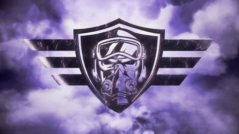 Sky Aces Aviators Intro Logo with Lightnings Animation Animation