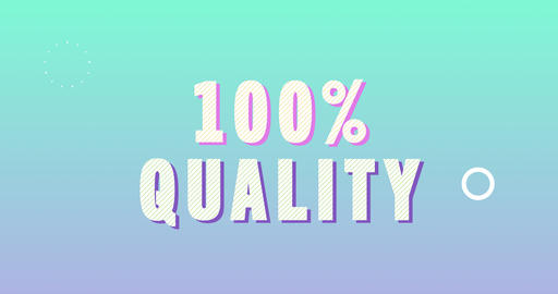 100 Percent Quality Logotype. Smooth Text Animation Animation