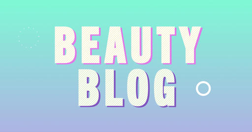 Beauty Blog Logotype. Smooth Text Animation Animation