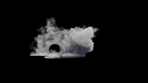 Burnout Smoke Animation Graphic Element Animation