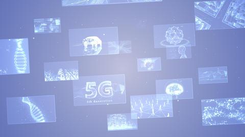 Digital Network Technology AI 5G data communication concepts background E Move B Gray CG動画