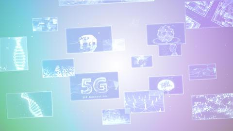 Digital Network Technology AI 5G data communication concepts background E Move B Gray2 CG動画
