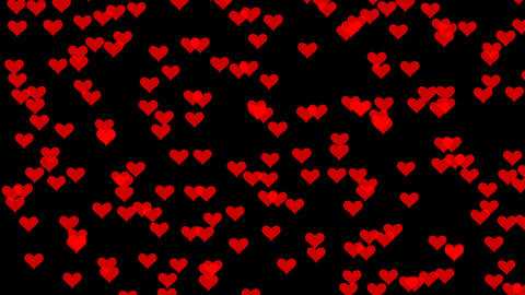 Valentine's Day red hearts wiggle Animation