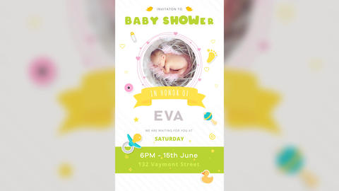 Baby Birthday Stories Plantilla de After Effects