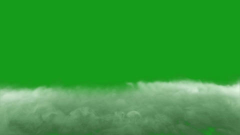 White smoke on the ground with green screen background CG動画
