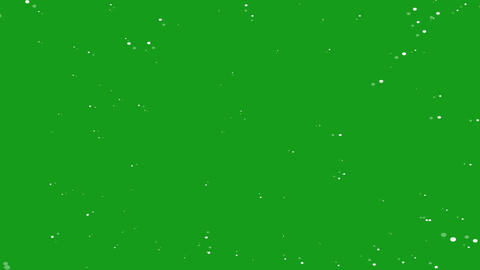 Blowing white particles motion graphics with green screen background CG動画