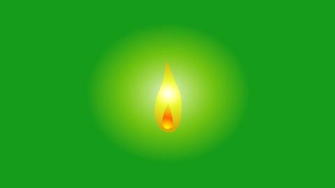 Candle light motion graphics with green screen background CG動画