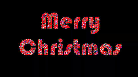 Merry christmas motion graphics with night background CG動画