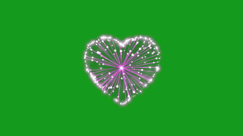 Heart blast motion graphics with green screen background CG動画