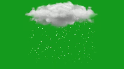 Rainy clouds motion graphics with green screen background CG動画
