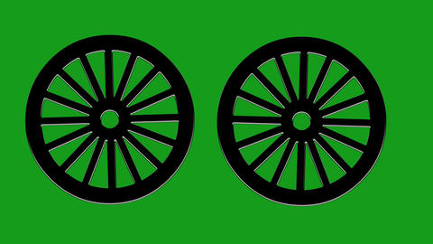 Rotating wheels motion graphics with green screen background Videos animados