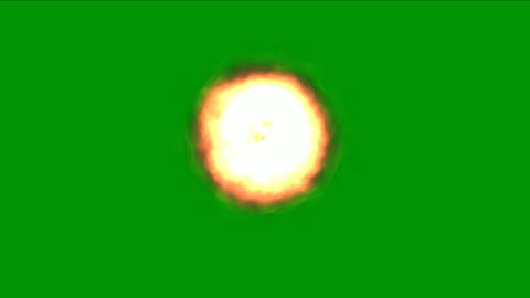 Fire energy motion graphics with green screen background CG動画