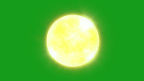 Shining sun motion graphics with green screen background Animation