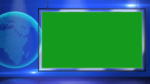 News frame motion graphics with green screen background Animation