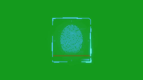 Finger print lock motion graphics with green screen background Animation