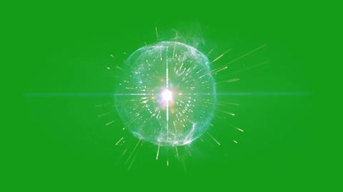 Ethereal aura motion graphics with green screen background Animation